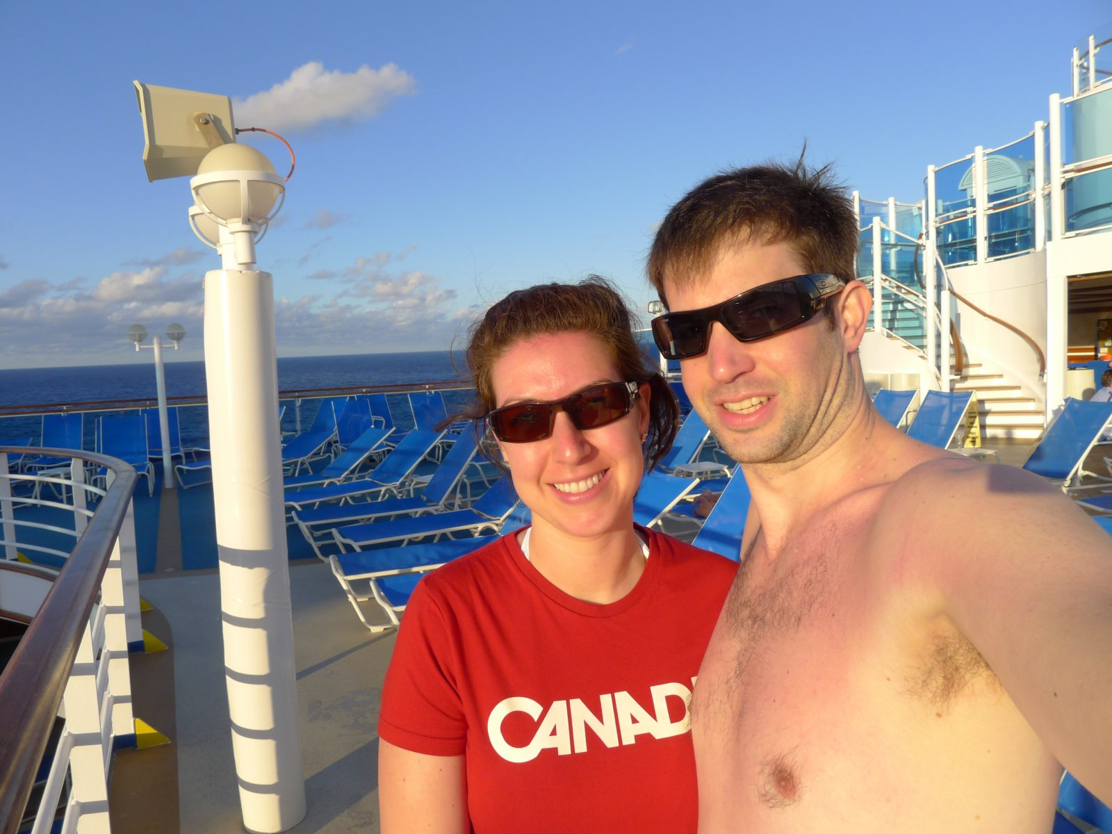 Andy and I on the Ruby Princess