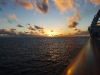 Sunset off the Ruby Princess
