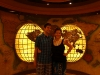 Andy and I inside the Ruby Princess