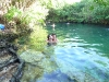Andy and I swimming in a cenote