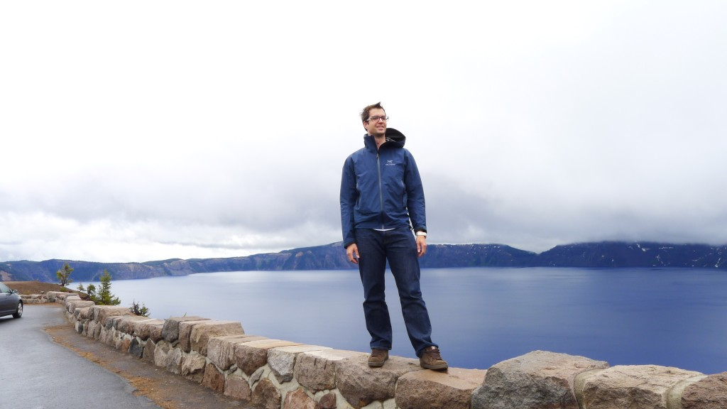 Getting my pose on at Crater Lake